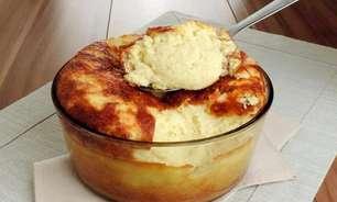 Suflê de batata com molho branco