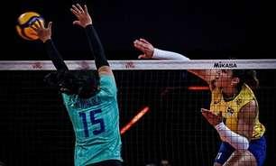 Em ritmo de treino, Brasil supera a Tailândia e vence a décima na Liga das Nações