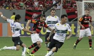 Última vitória como visitante do Coritiba contra o Flamengo foi por dois gols de vantagem