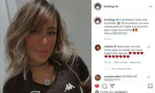 Botafogo volta a interagir com Rafaella, irmã de Neymar: 'Muito bom vê-lo no estádio do Fogão'