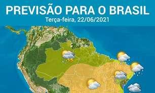Chuva nas capitais de SC, PR, SP, RJ e do leste e do Nordeste