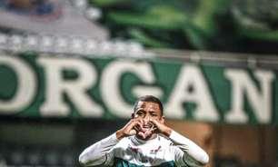 Waguininho comemora mais um gol pelo Coritiba e fala sobre desejo de crescimento da equipe