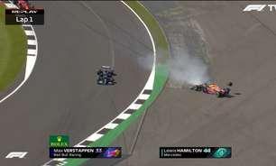 """Alonso vê incidente de corrida em lance com Verstappen: """"Hamilton não podia desaparecer"""""""