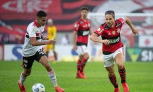 Diego rebate Reinaldo em goleada do Flamengo sobre o São Paulo: 'Você é um velho bobo. Vira homem, otário'