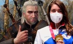 Com amuleto de The Witcher, atleta olímpica conquista ouro