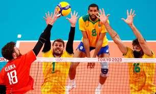 Brasil perde para os russos e sofre primeiro revés no vôlei