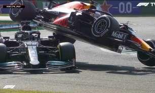 Verstappen e Hamilton batem na variante de Monza e abandonam GP da Itália