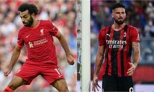 Liverpool x Milan: onde assistir, horário e escalações do jogo da Champions League