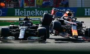 """Hamilton """"precisa pensar"""" sobre conduta de Verstappen, mas espera novos incidentes"""