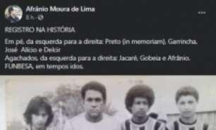 Foto inédita de Garrincha é divulgada 41 anos depois; veja