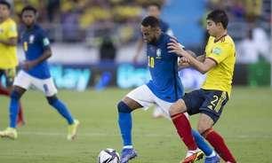 Na volta de Neymar, Brasil joga mal, empata com a Colômbia e perde o 100% nas Eliminatórias