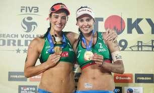 Líderes do ranking mundial, Ágatha e Duda anunciam fim da dupla no vôlei de praia