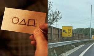 Placa de trânsito é confundida com símbolos de 'Round 6'