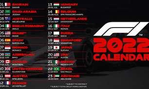 F1 confirma calendário da temporada 2022 com 23 corridas