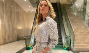 Paolla Oliveira veste look todo prata: 'brilhando'