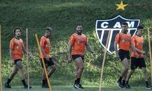 Hulk treina com a mão enfaixada, e Atlético-MG tem preocupações com pendurados diante do Cuiabá