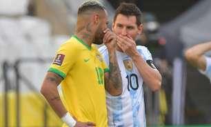 Conmebol divulga datas e horários dos jogos da Seleção contra Colômbia e Argentina pelas Eliminatórias