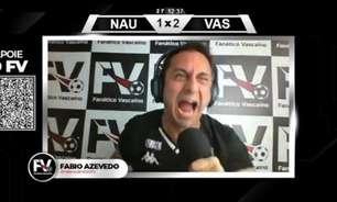 Fabio Azevedo 'surta' com gol de empate do Náutico sobre o Vasco e viraliza; veja o vídeo