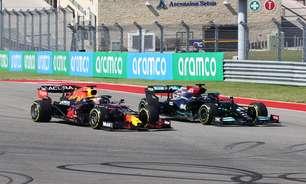 """Verstappen explica 'caça' de Hamilton no GP dos EUA e admite: """"Foi emocionante"""""""