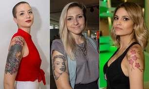 Caveira, Marilyn Monroe, cerejeira: veja tatuagens no SPFW