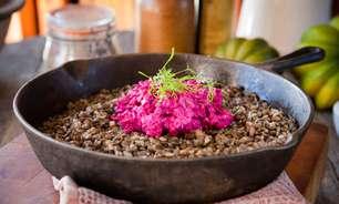 Risoto com lentilha em fragrância de ervas