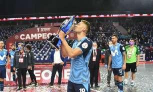 Jogador da Seleção Brasileira marca em decisao e conquista Supercopa da Espanha de Futsal