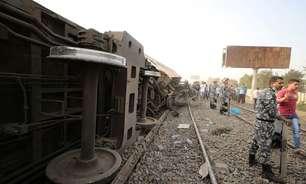 Descarrilamento de trem no Egito tem 11 mortos e 98 feridos