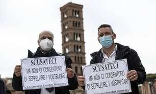 Roma tem fila com centenas de corpos aguardando cremação