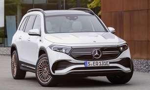 Mercedes revela EQB, seu primeiro SUV elétrico de 7 lugares