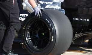 """Hamilton faz primeiro teste com novos pneus de 18"""" da Pirelli durante sessão em Ímola"""