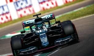 Mesmo melhor que Vettel, Stroll relata problemas de freio, câmbio e visor em Ímola
