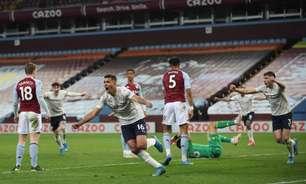 Manchester City sofre gol no primeiro minuto, mas vence o Aston Villa de virada no Campeonato Inglês