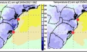 Onda de frio chega ao Brasil na próxima semana