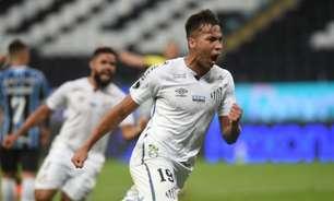 Kaio Jorge deve ser titular do Santos no clássico contra o Palmeiras