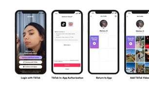TikTok pode ser usado para fazer login em apps compatíveis