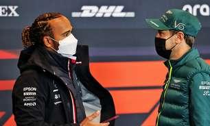 """Vettel destaca carinho por Hamilton e exalta ativismo: """"Não dá para ignorar as coisas"""""""
