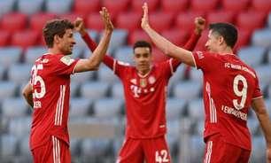 Bayern entra em campo com o título alemão, e goleia o Borussia Monchengladbach