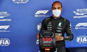 Hamilton constrói pole 100 e dá golpe duro na Red Bull. A Verstappen resta vencer