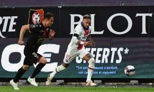 Neymar marca, mas PSG empata com o Rennes e se complica