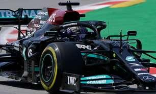 """Hamilton exalta trabalho da Mercedes em caçada a Verstappen na Espanha: """"Memorável"""""""