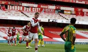 Com gol de falta de Willian, Arsenal vence e rebaixa o West Bromwich no Campeonato Inglês
