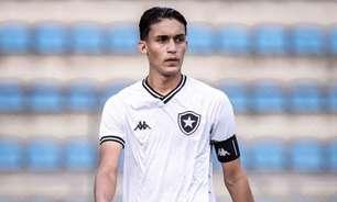 Capitão do Botafogo sub-17, João Lucas fala em admiração por Igor Rabello: 'Sou fã do futebol dele'