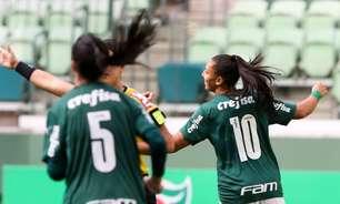 Invencibilidade continua! Palmeiras goleia Real Brasília e segue na liderança do Brasileirão Feminino