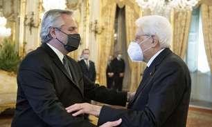 Draghi e Mattarella se reúnem com presidente argentino na Itália