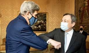 Premiê italiano se reúne com Kerry para debater crise climática