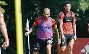 Daniel Alves e Luciano treinam e podem ser novidades do São Paulo