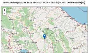 Terremoto atinge região no centro da Itália e assusta moradores