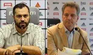 De lados opostos também fora do campo: Fluminense e Flamengo repetem tensões em final do Carioca