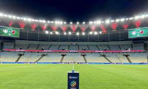 Com mosaico, torcedores do Flamengo respondem e provocam Fluminense antes da final do Carioca