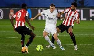 Athletic Bilbao x Real Madrid: onde assistir e prováveis escalações